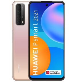 Telefon mobil Huawei P Smart 2021, Dual Sim, 128GB, LTE, Huawei Mobile Services, Blush Gold